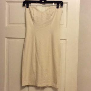 Amanda Uprichard Strapless Ivory Dress Sz P 0-2